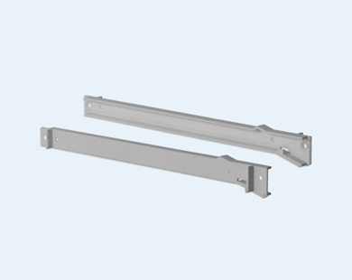 CE0003S Structural Glide & Tilt Single Tray Runner for Metal in Gray