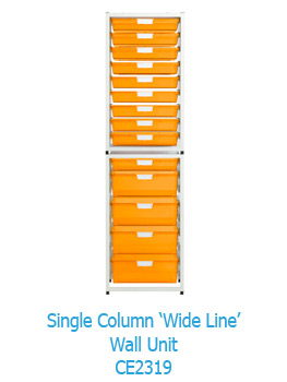 Single Column Wide Line Wall Storage Unit