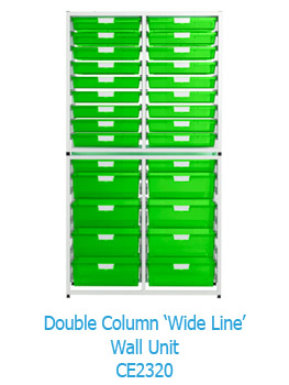 Double Column Wide Line Wall Storage Unit