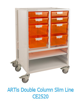 ARTis Double Column Slim Line Mobile Storage Unit CE2520