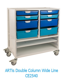 ARTis Double Column Wide Line Mobile Storage Unit CE2540