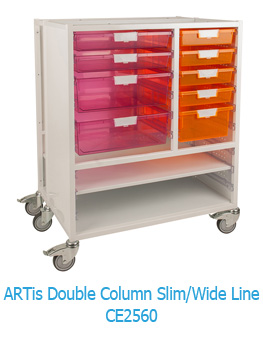 ARTis Double Column Slim/Wide Line Mobile Storage Unit CE2560